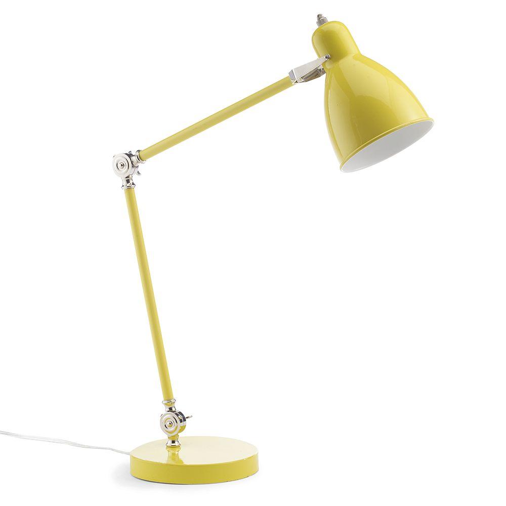 Industrial Task Table Lamp  Tumeric
