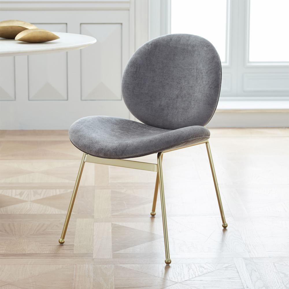 Jane Dining Chair Velvet West Elm Uk