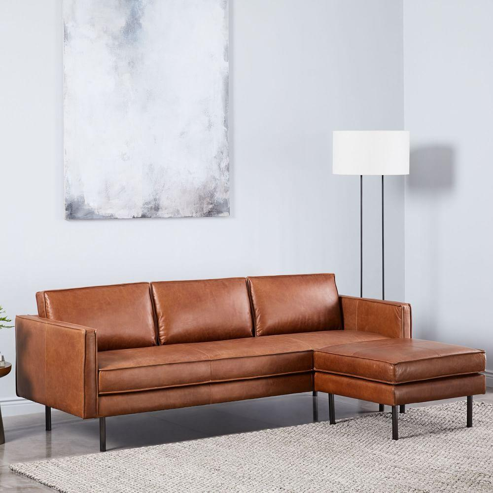 Super Axel Leather Sofa 226 Cm Footstool Set West Elm Uk Ocoug Best Dining Table And Chair Ideas Images Ocougorg