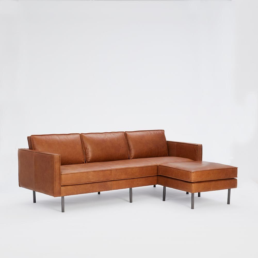 Axel Leather 3 Seater Sofa (226 cm) + Footstool Set
