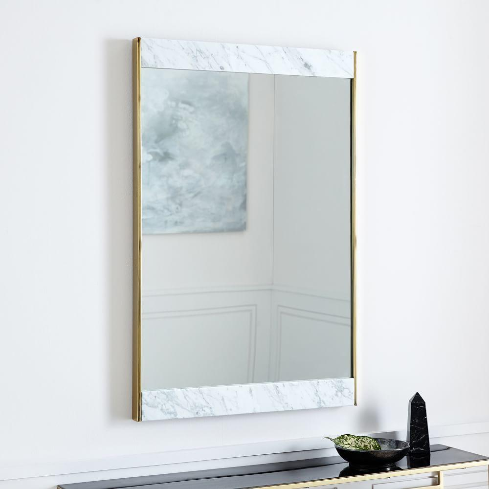 Marble + Brass Wall Mirror