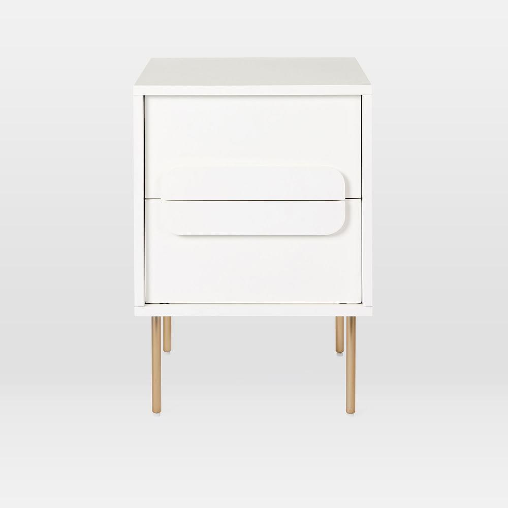 Gemini nightstand white lacquer