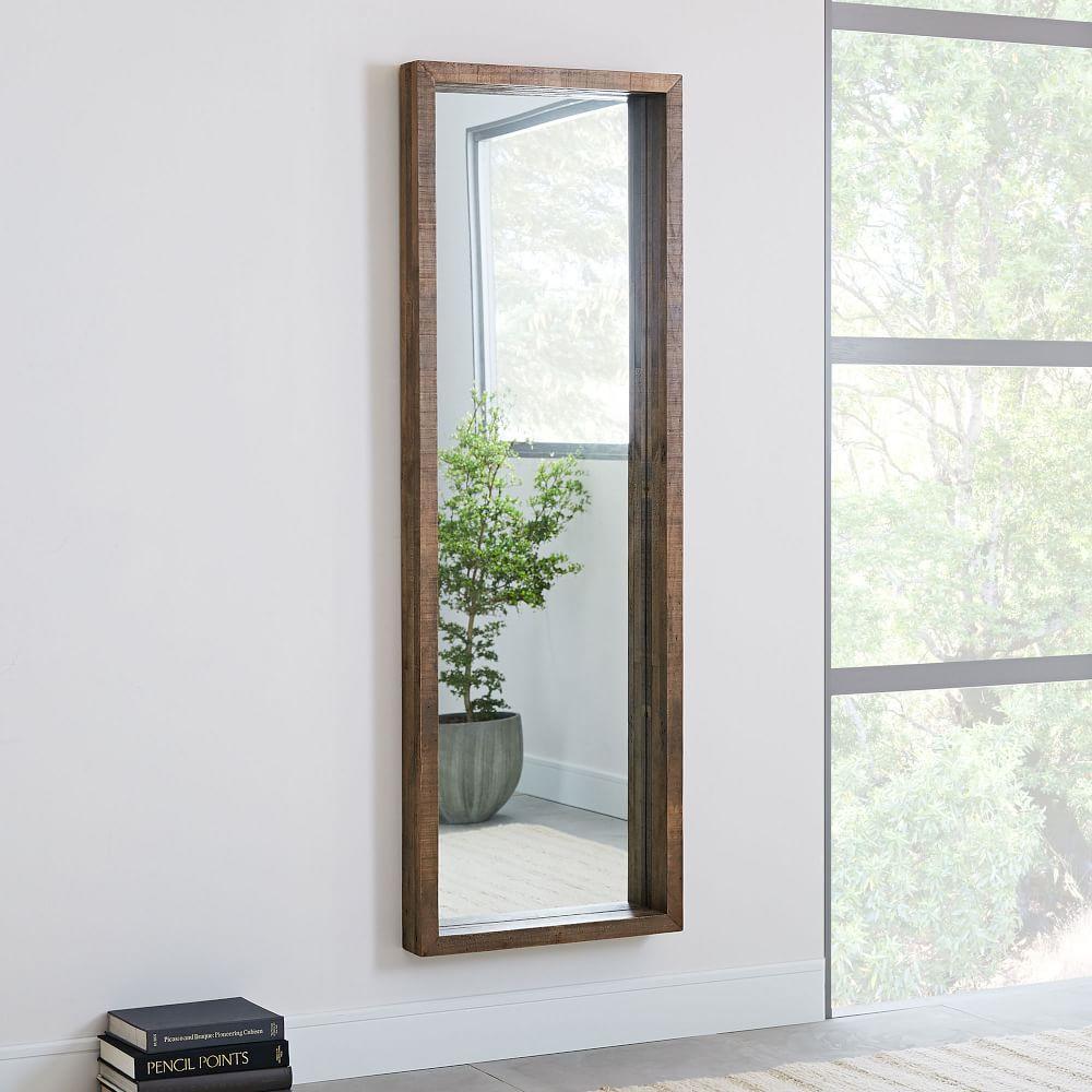 Emmerson® Modern Reclaimed Wood Floor Mirror   west elm UK