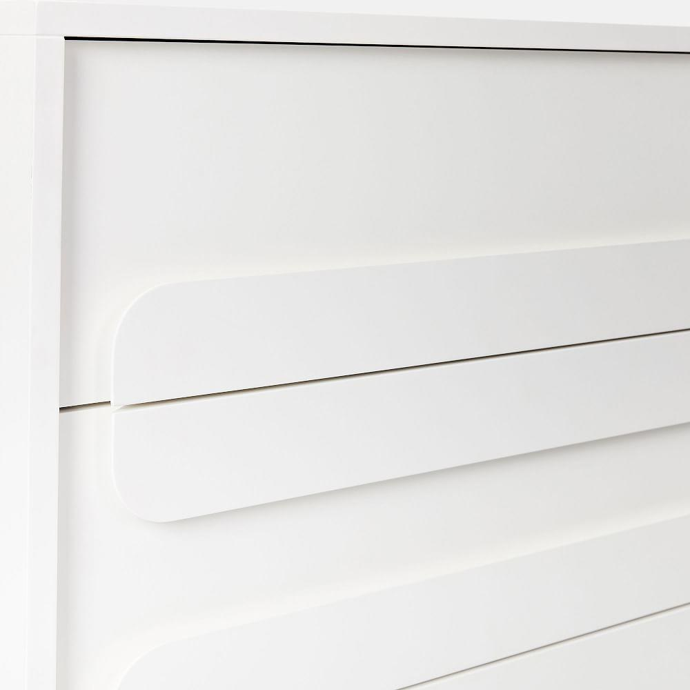 Gemini 6-Drawer Chest - White Lacquer