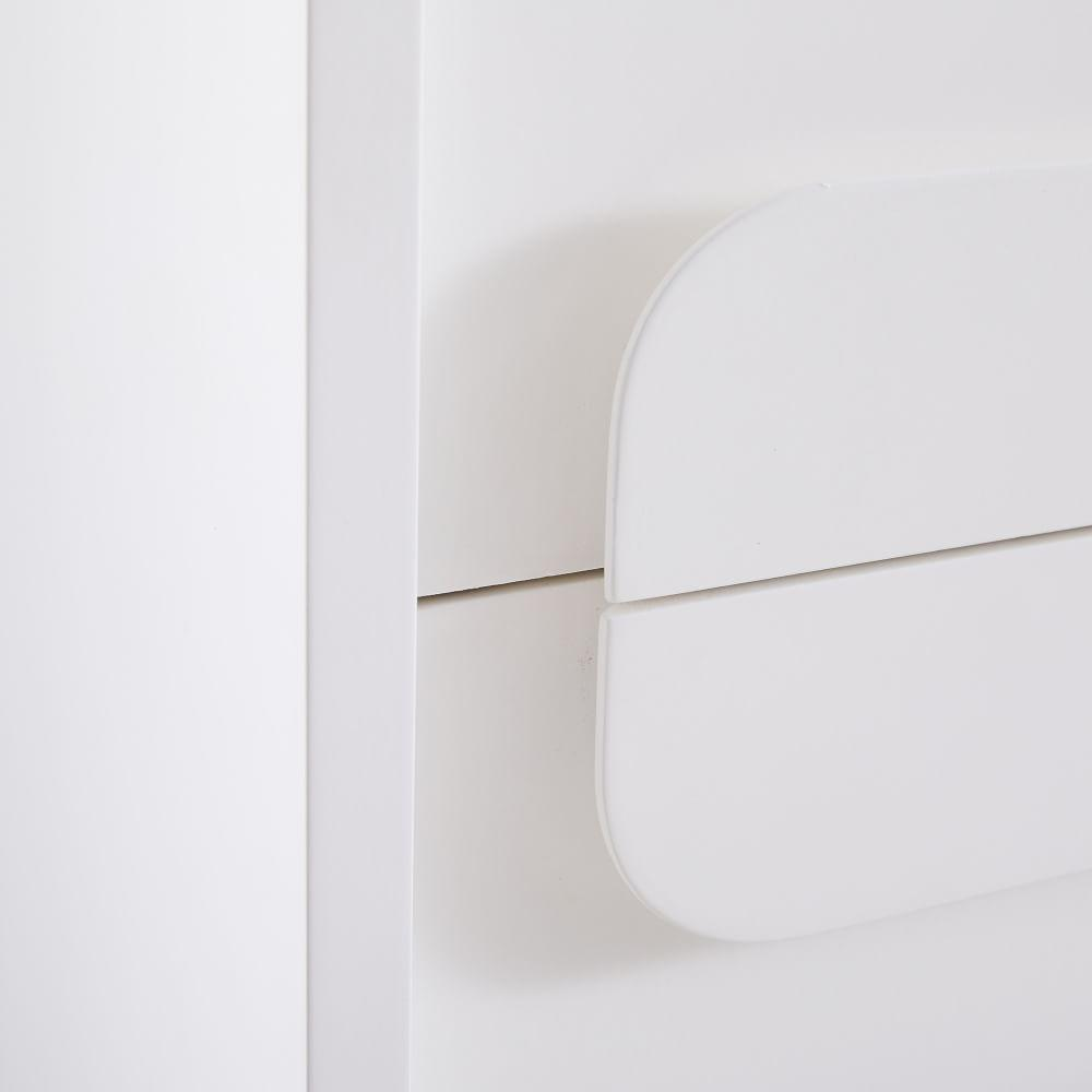 Gemini 5-Drawer Chest - White Lacquer