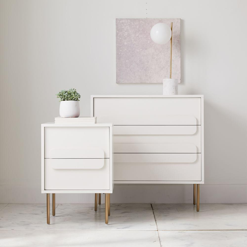 Gemini 3-Drawer Chest - White Lacquer