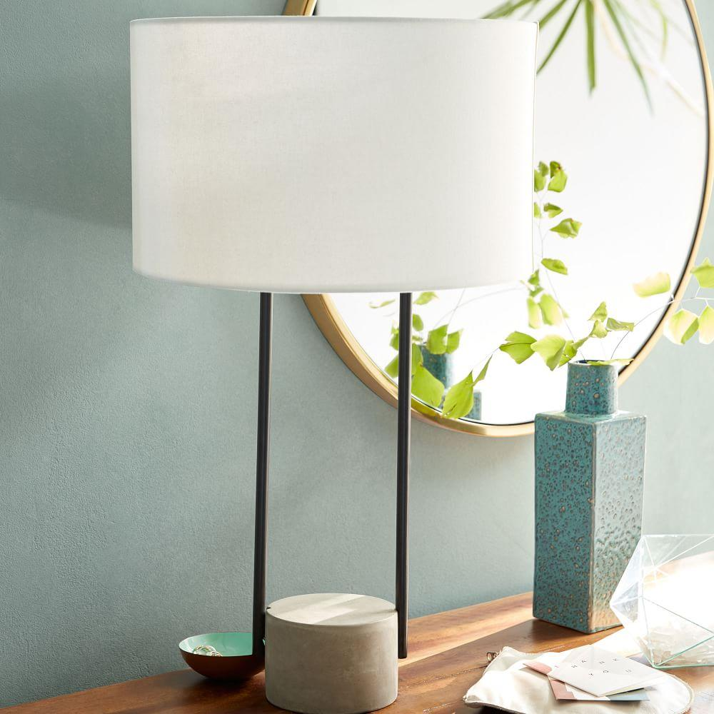 Industrial Outline Table Lamp