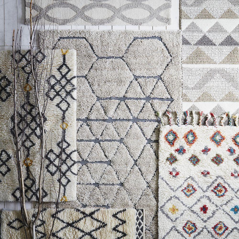 Fes Wool Shag Rug   Ivory   Slate. Fes Wool Shag Rug   Ivory   Slate   west elm UK