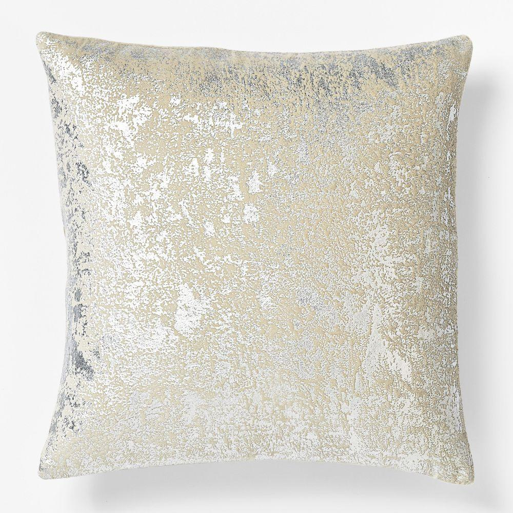 Sari Silk Solid Pillow Cover - Dark Putty Handcrafted by the artisans at Eco Tasar, a silk workshop and social enterprise in rural India, these pillow covers are made of pure silk originally intended for saris, a draped garment worn in South Asia.