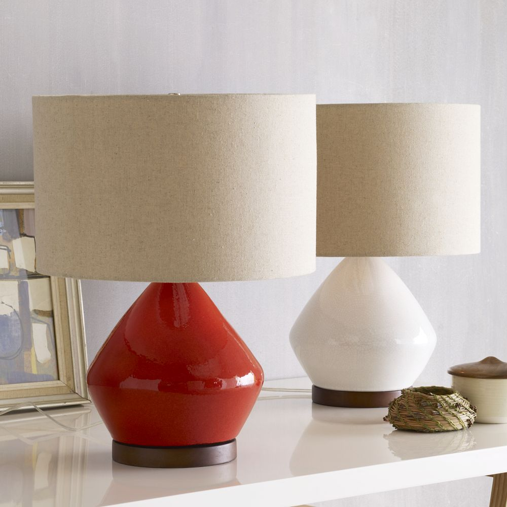 Mia Table Lamp White West Elm Uk