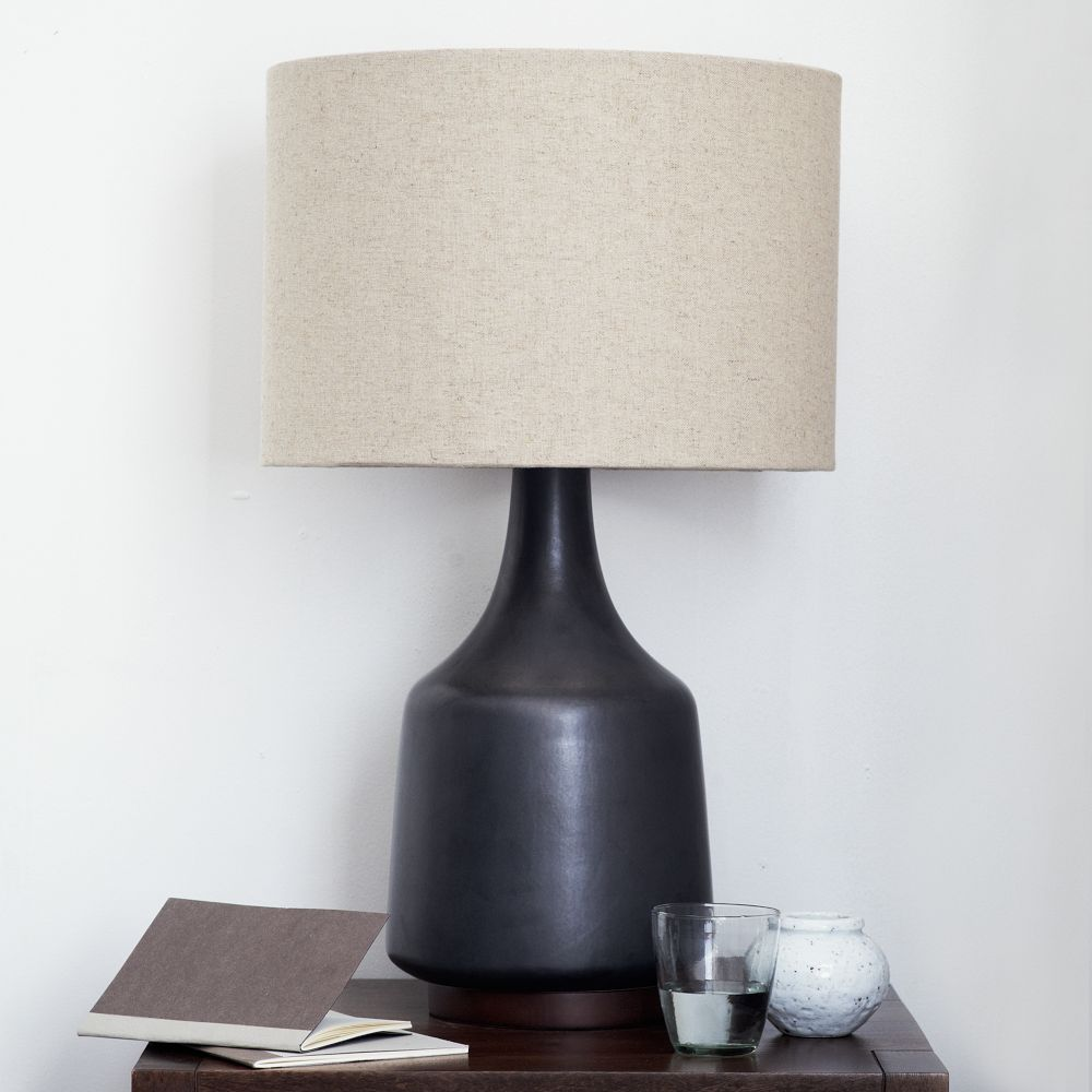 Morten table lamp black west elm uk morten table lamp black geotapseo Image collections