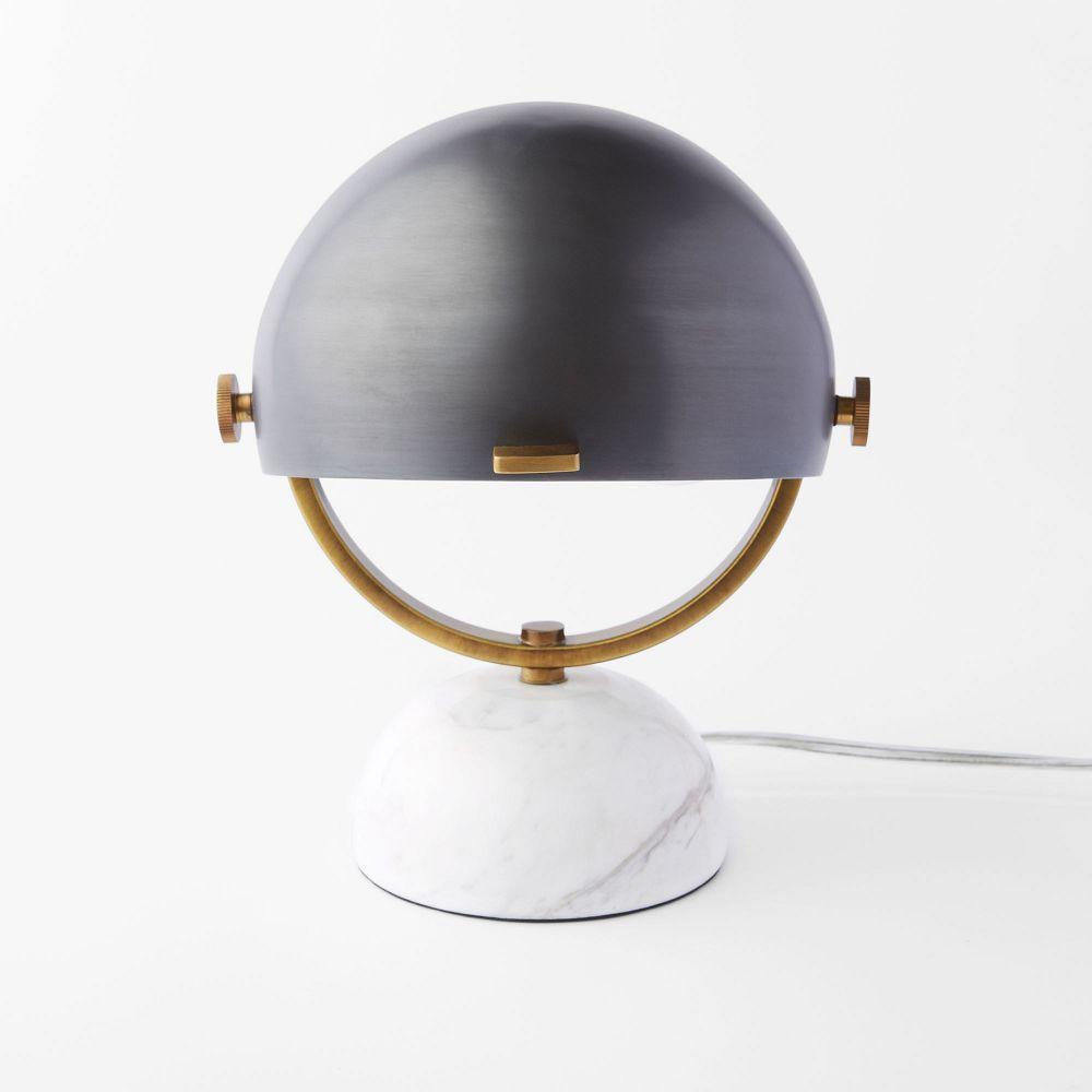 clint mini task lamp marble black west elm uk. Black Bedroom Furniture Sets. Home Design Ideas