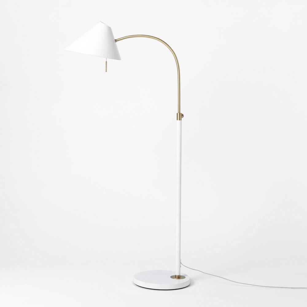 mid century task floor lamp  west elm uk -  mid century task floor lamp