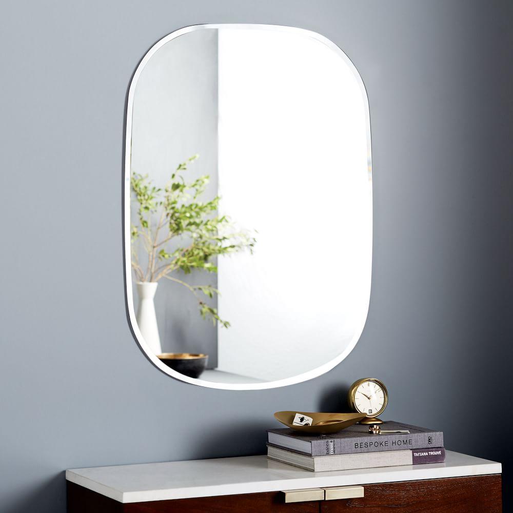 Frameless Rectangle Wall Mirror West Elm Uk
