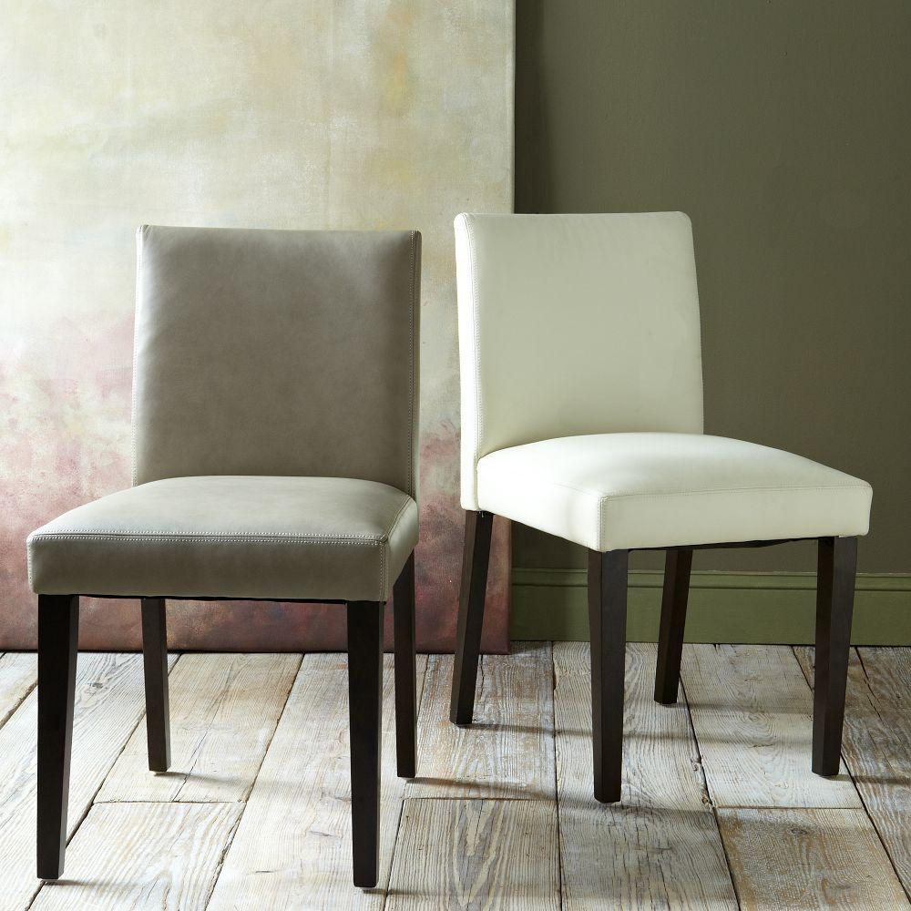 porter leather dining chairs g leather kitchen chairs Porter Leather Chair Set of 2