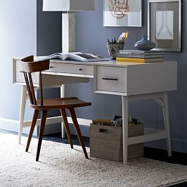 Mid-Century Desk - White