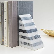 Striped Angle Geometry Bookend