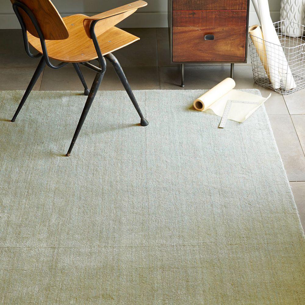 Hand Loomed Shine Rug Blue Lagoon: Modern Furniture, Home Decor & Home Accessories