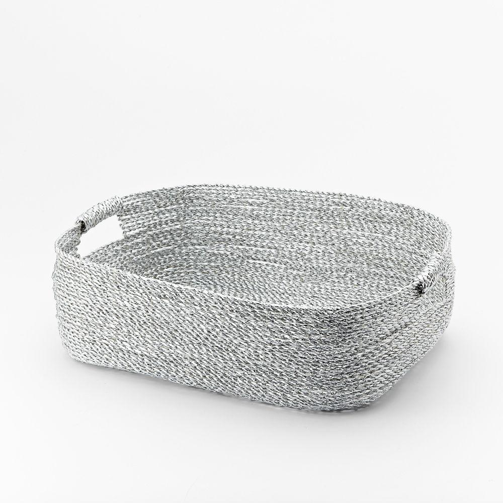Metallic Woven Baskets