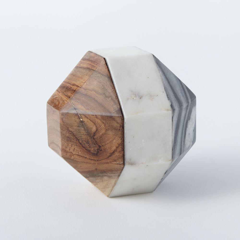 Marble Wood Geometric Objects