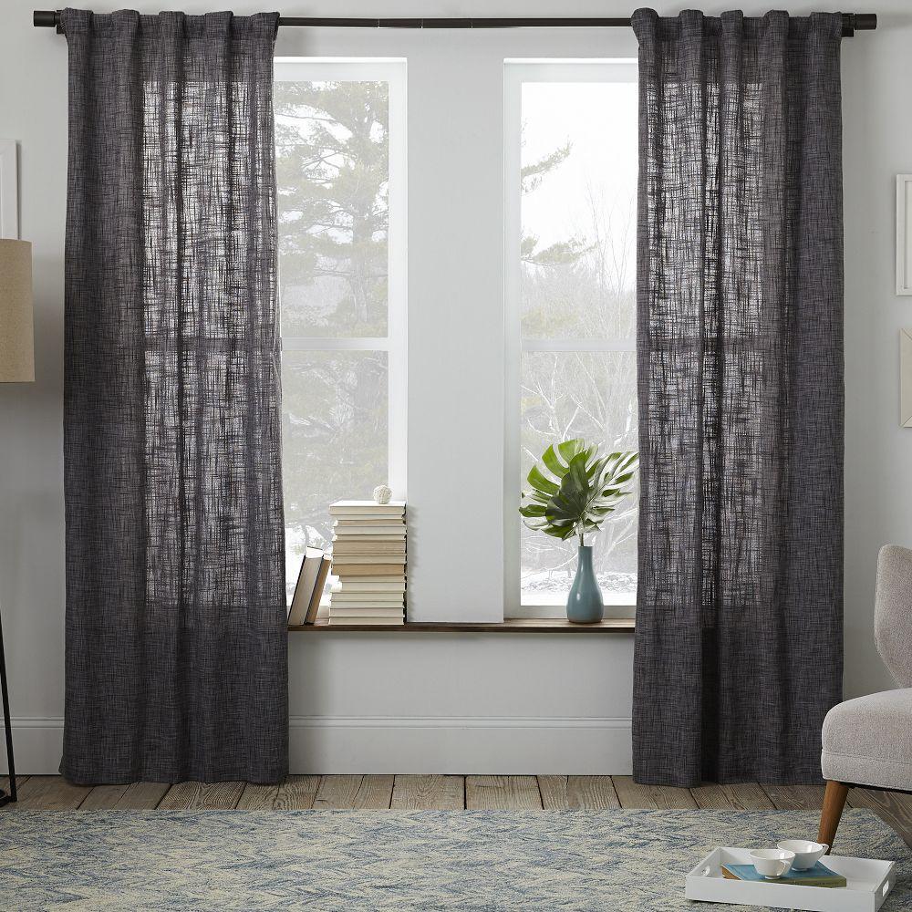 Crossweave Curtain Graphite