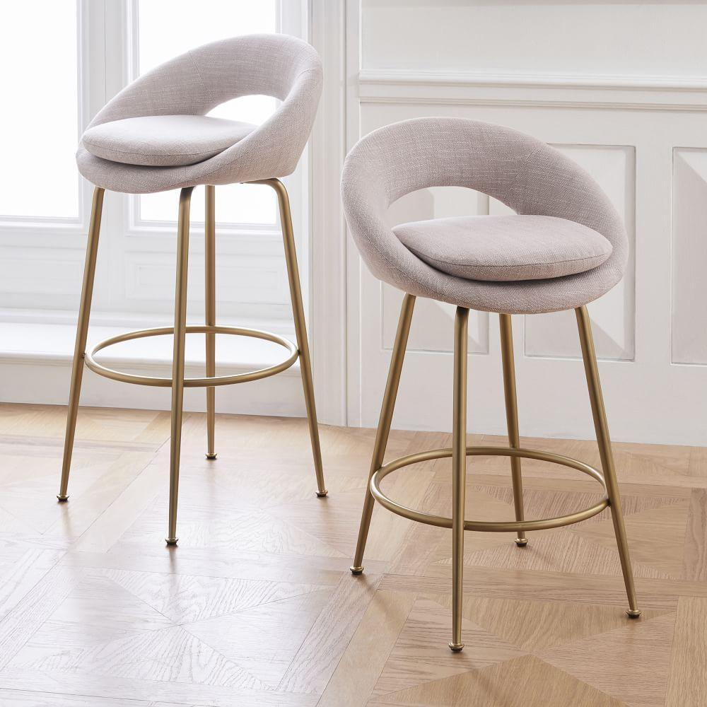 Astonishing Orb Upholstered Bar Counter Stools West Elm Uk Ocoug Best Dining Table And Chair Ideas Images Ocougorg