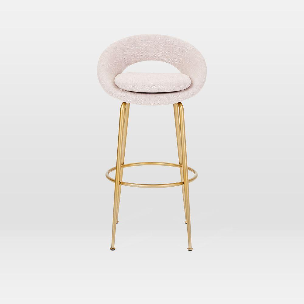 Orb Upholstered Bar Counter Stools West Elm Uk
