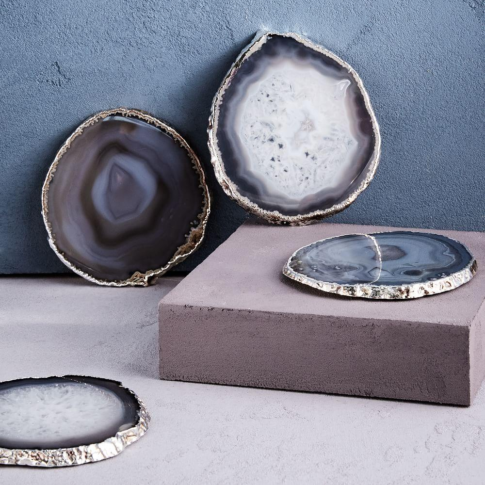 Agate Coasters - Gold (Set of 4)