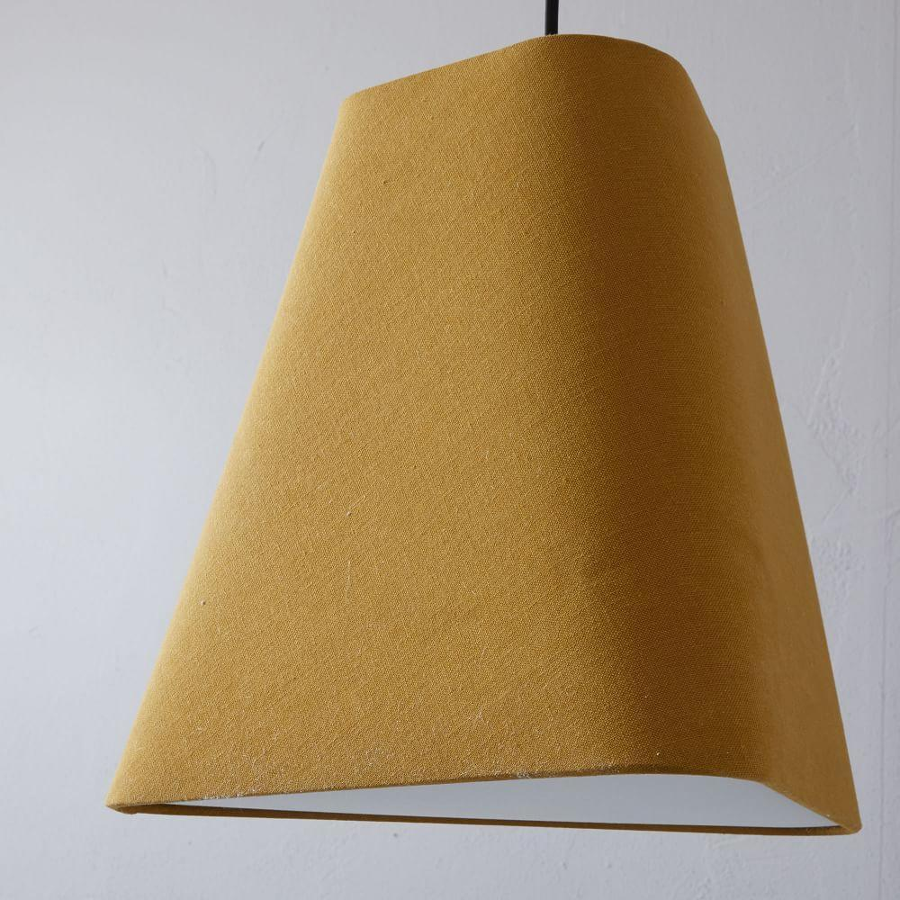 Fabric Geo Shade Ceiling Lamp - Small