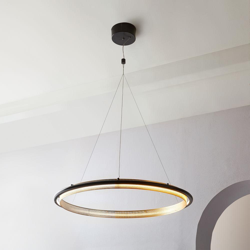 led hoop chandelier west elm uk