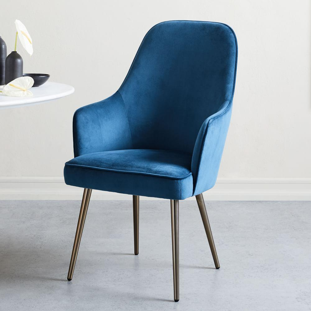 Mid Century High Back Dining Chair West Elm Uk