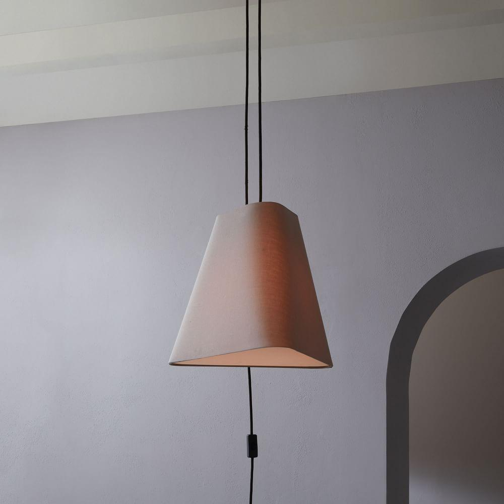 Fabric Geo Shade Ceiling Lamp Small West Elm Uk