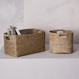 Metallic Woven Storage Baskets