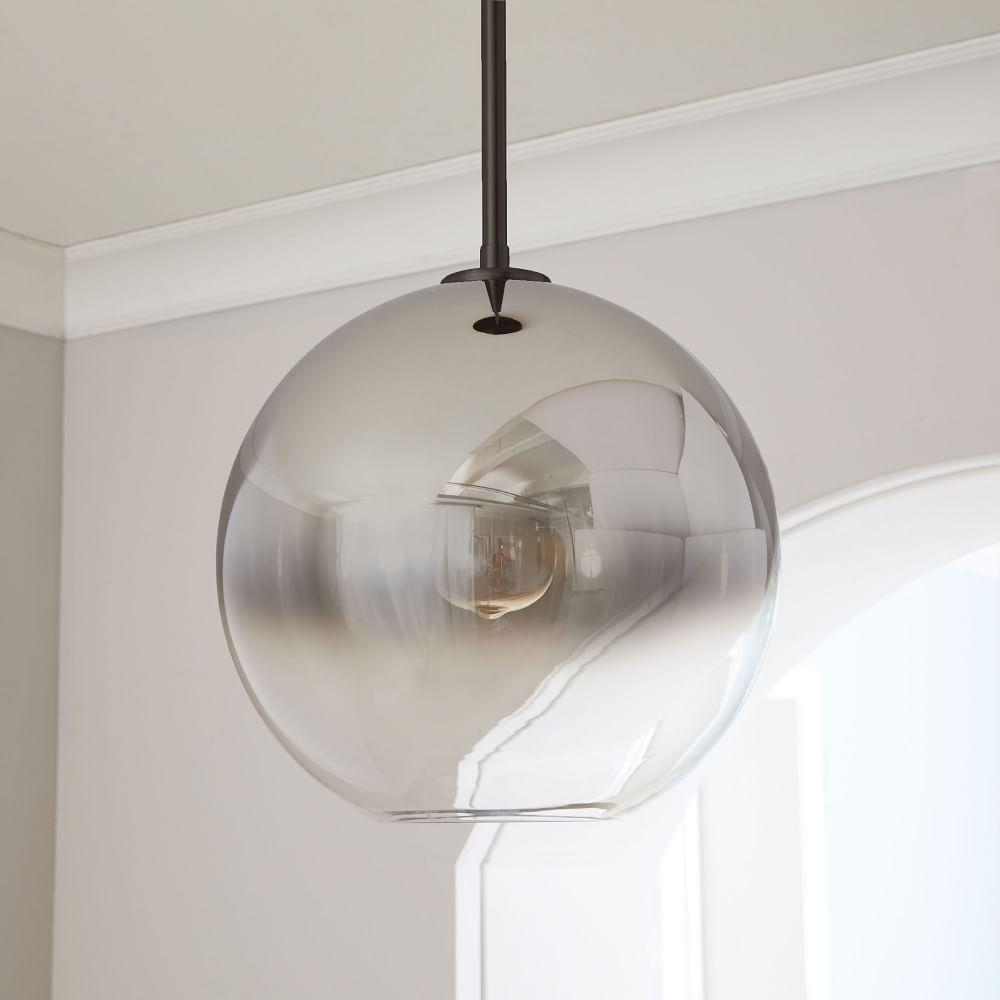 Sculptural Glass Globe Ceiling Lamp - Ombre
