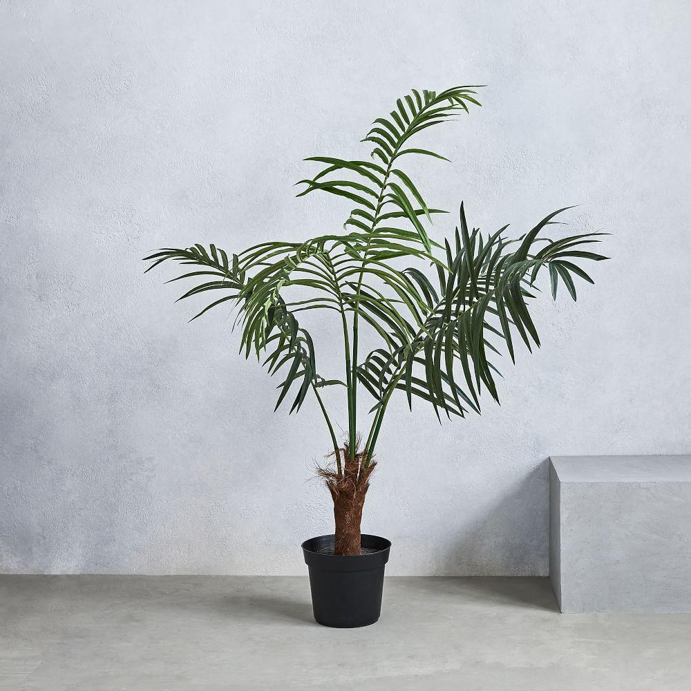 faux fan palm tree west elm uk