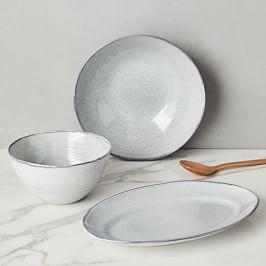 Reactive Grey Speckle Serveware