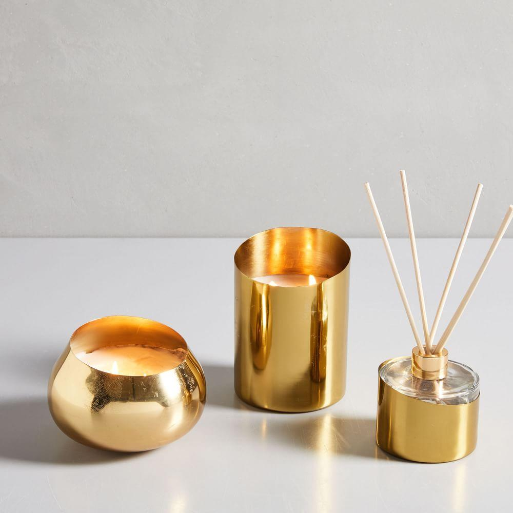Angled Metal Homescent Collection - Gold