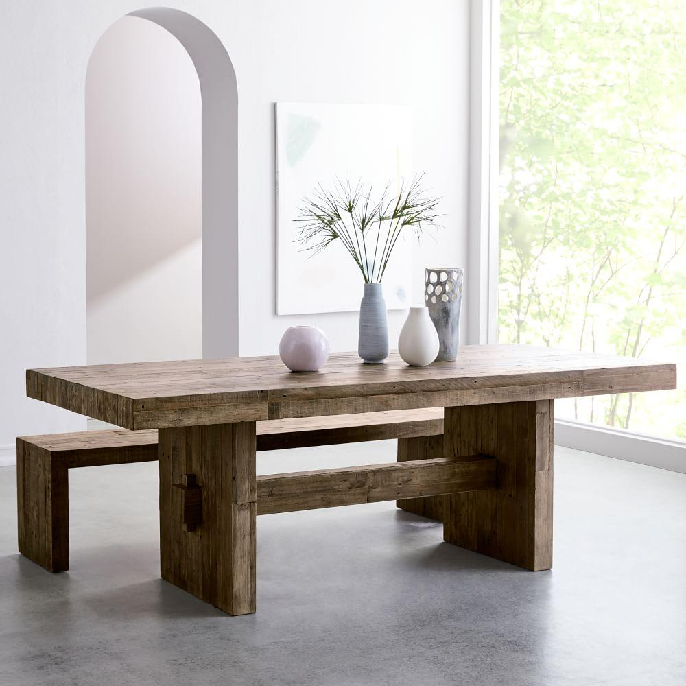 Kitchen Tables With Benches And Chairs Table Wood: Emmerson™ Reclaimed Wood Dining Table