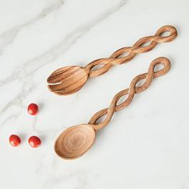 Spiral Salad Servers (Set of 2)