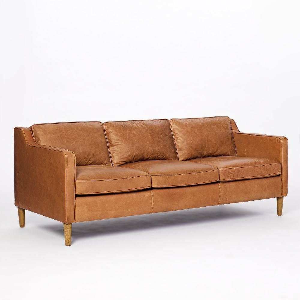 Hamilton Leather Sofa (206 cm) | west elm UK