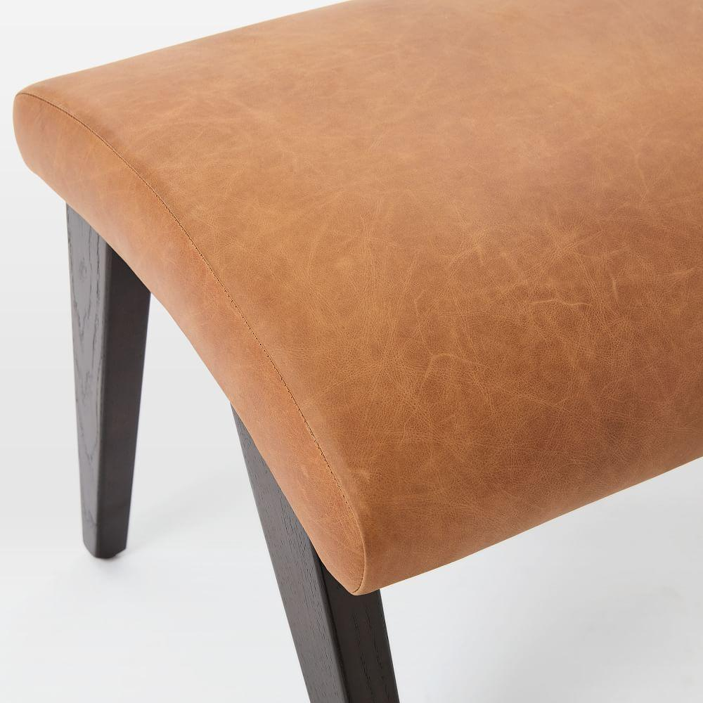 Contour Mid-Century Leather Footstool