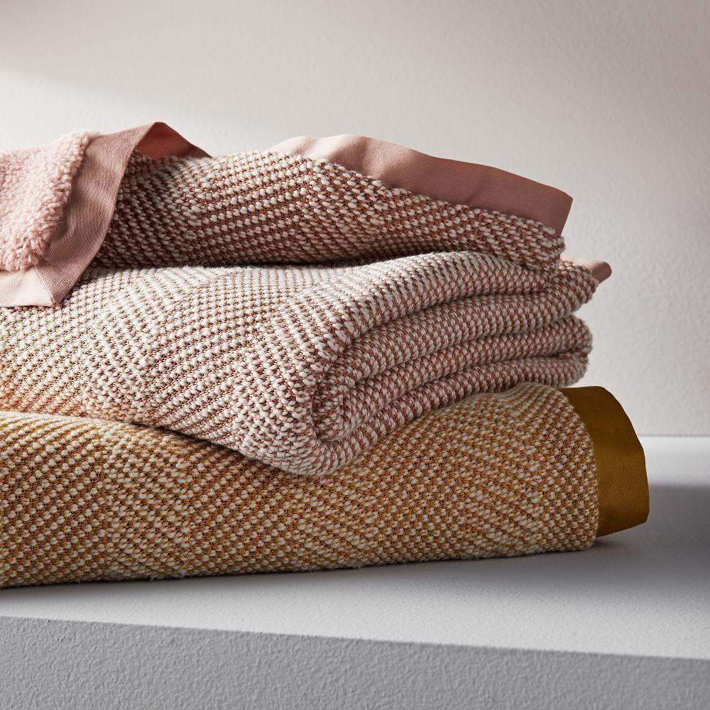 Tweed Sherpa Baby Blanket