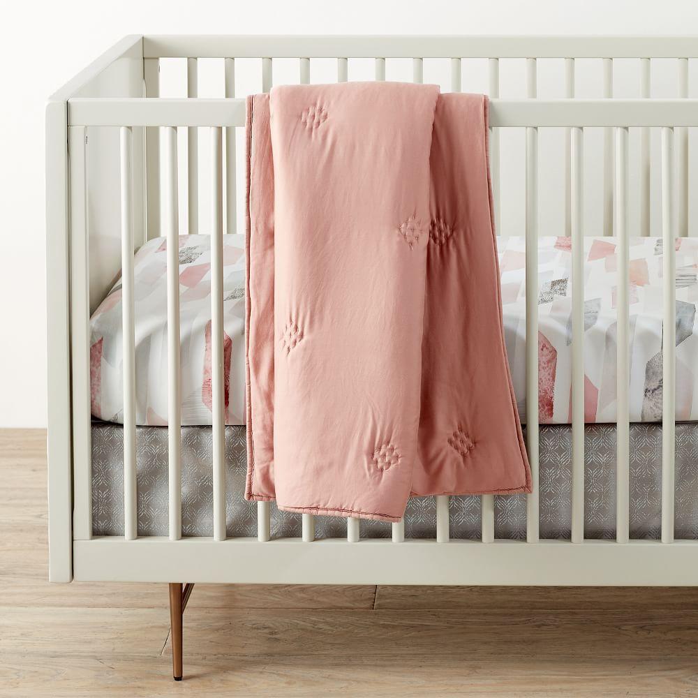 Washed TENCEL™ Toddler Comforter - Rosette