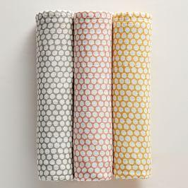 Dot Muslin Swaddle Set - (Set of Three)