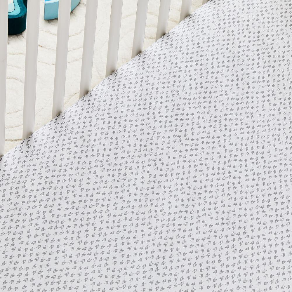 Organic Harmony Cot Fitted Sheet - Platinum