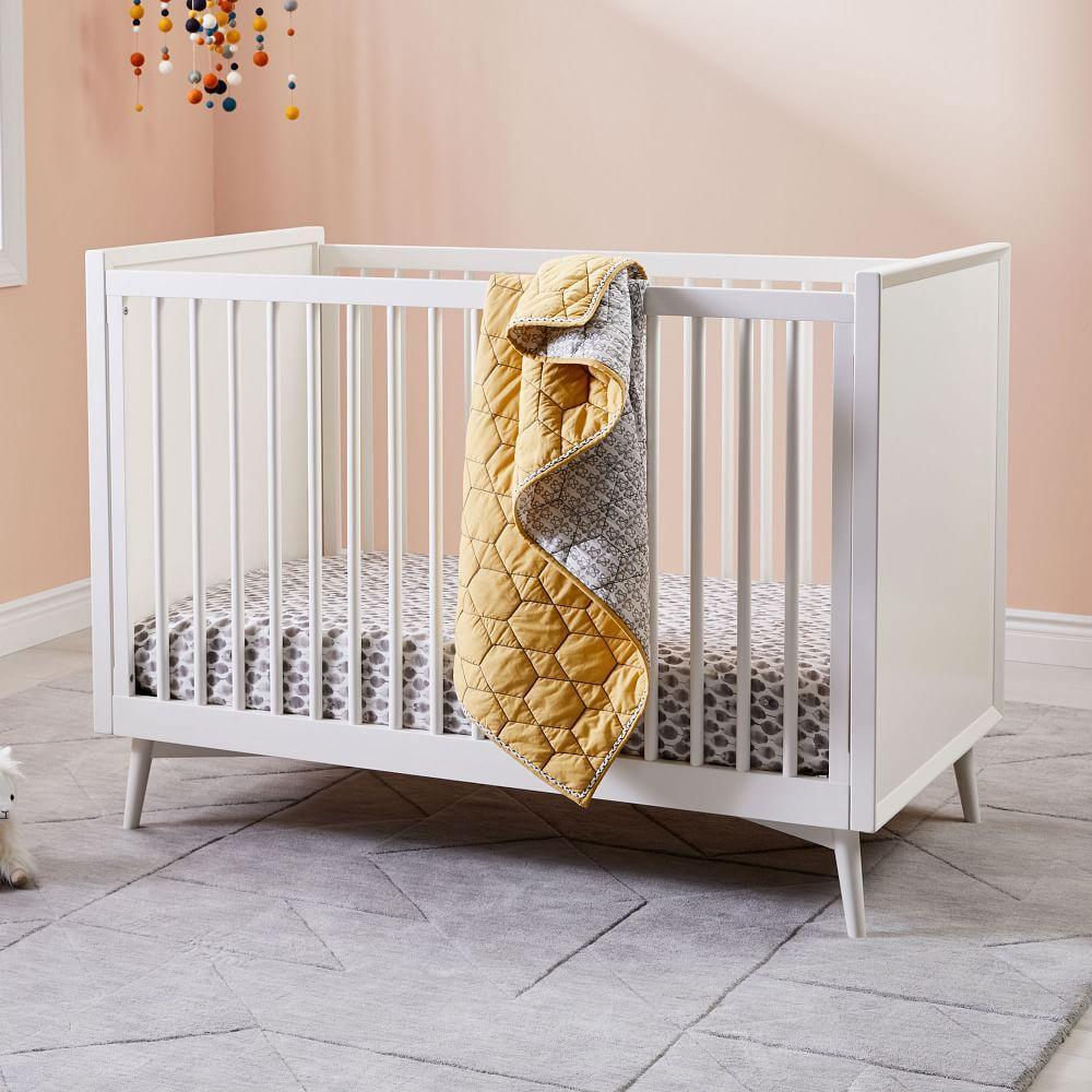Honeycomb Toddler Quilt - Horseradish