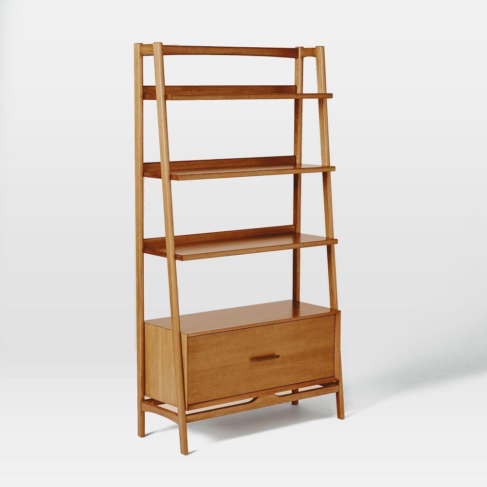 Mid-Century 96.5 cm Bookshelf - Acorn