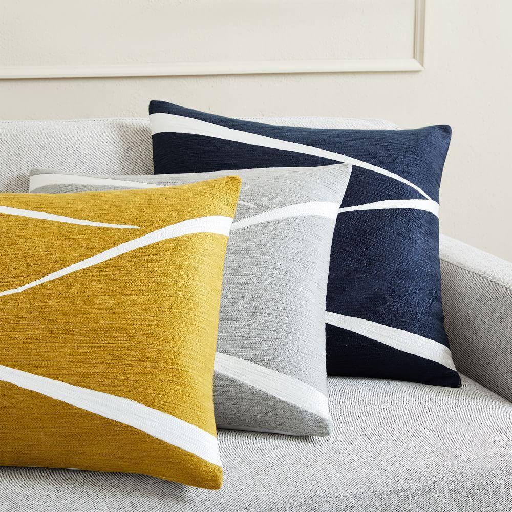 crewel fragments cushion covers west elm united kingdom