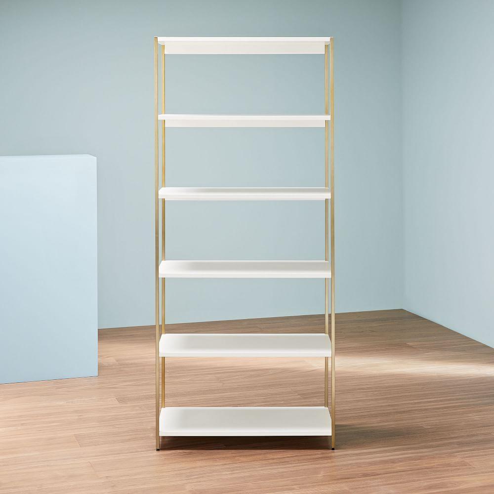 Zane Wide Bookshelf - White