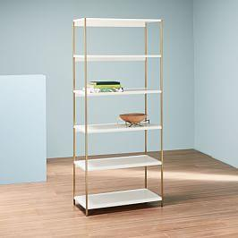 Zane Wide Bookshelf - White